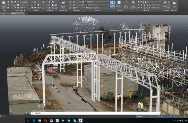 Point cloud and autoCAd documentation by PointSCAN 3D laser surveys