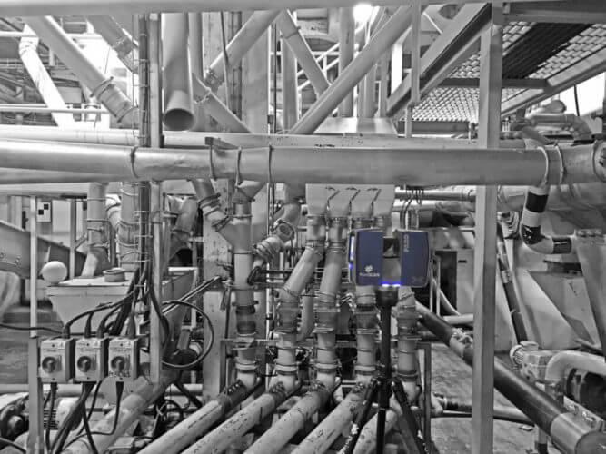 Engineering detail captured by PointSCAN BIM 3D laser survey