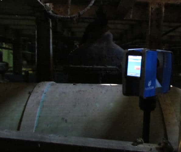 3d laser scan in confined space