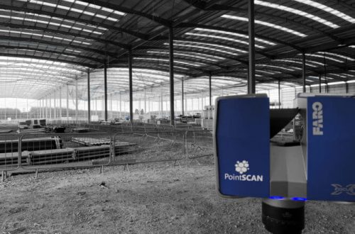 Construction engineering measurement data with PontSCAN 3D laser surveys